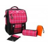 Plaid, polyester, 5pcs, red